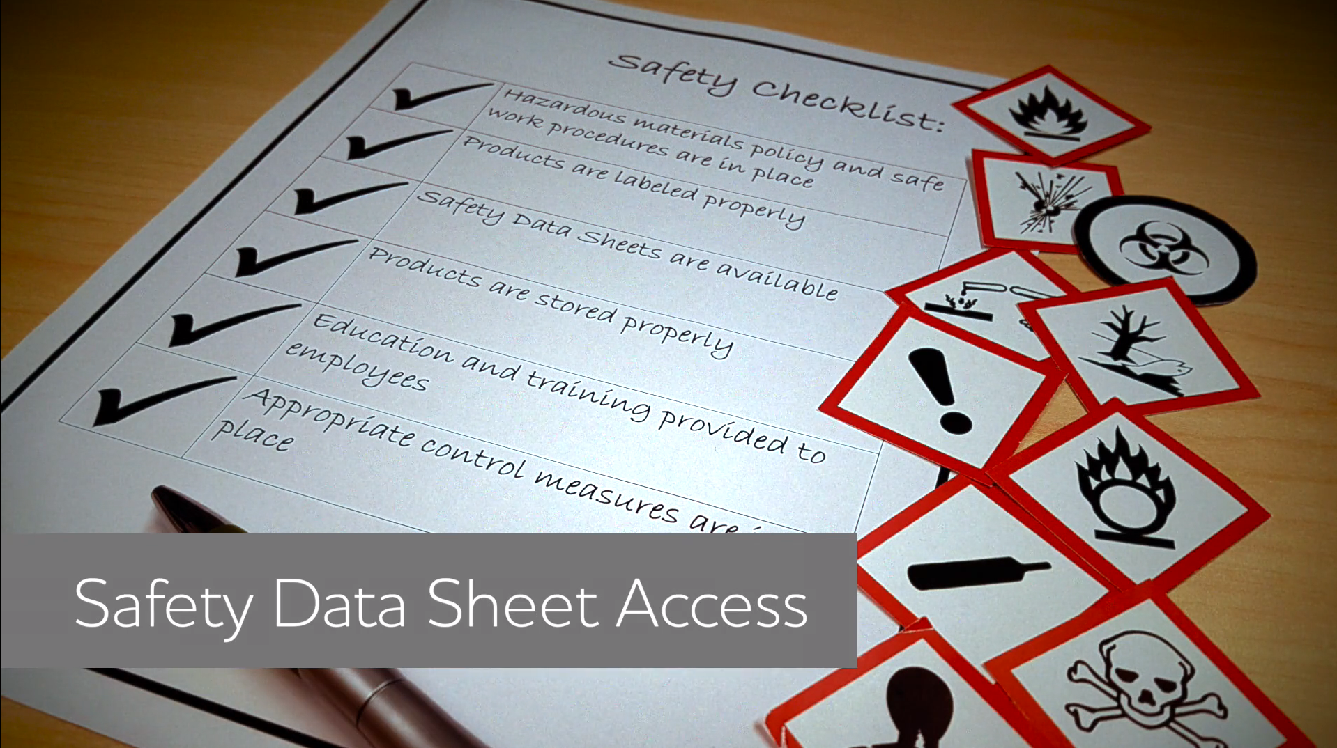 Safety Data Sheet (SDS) Access