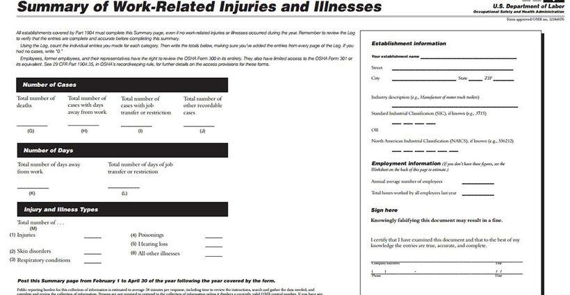How OSHA Inspectors Think: 300A Annual Summary