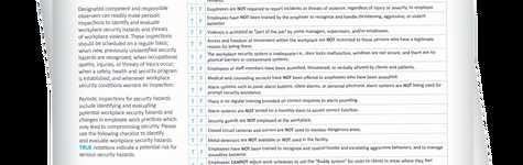 Workplace Violence Checklist