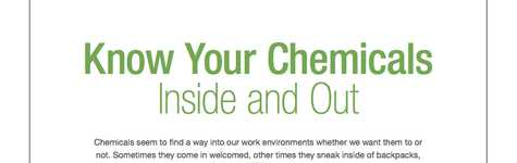 Know your chemicals inside and out