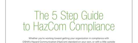 The 5 Step Guide to HAZCOM Compliance